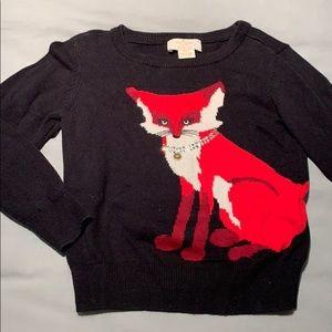 Girls Kate Spade Fox Sweater